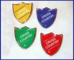 CROSS COUNTRY - SHIELD Lapel Badge